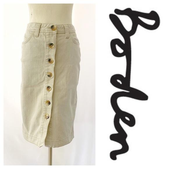 Boden Dresses & Skirts - Boden Button Front Pencil Skirt Tan (2)